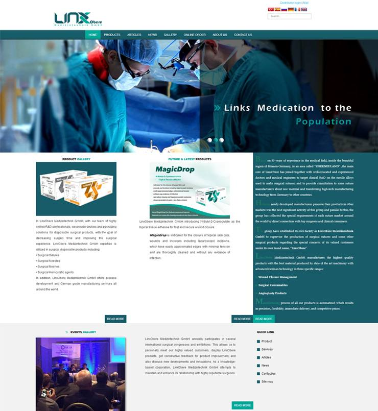 طراحی سایت Linx