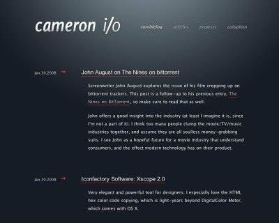 وبسایت Cameron.io