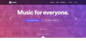 تصویری از اسپاتیفای برای نشان دادن سلسلهمراتب بصری در طراحی وب سایت حرفه ای