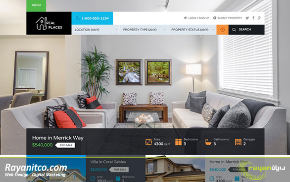 مزیت طراحی سایت املاک