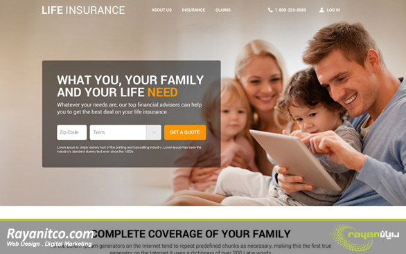 چه نکاتی در ایجاد وب سایت بیمه در شرکت رایان مورد توجه قرار می گیرد؟