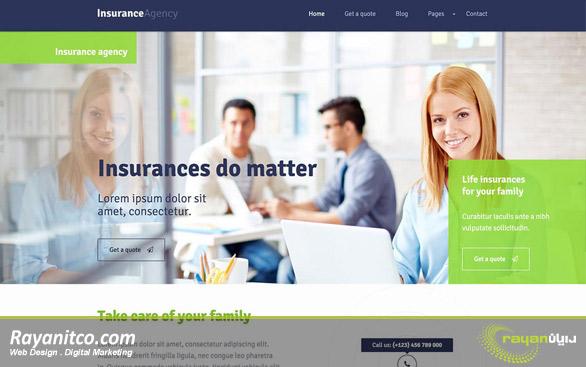 طراحی سایت بیمه – طراحی سایت شرکت بیمه