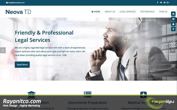 امکانات پیشنهادی در طراحی سایت خدماتی