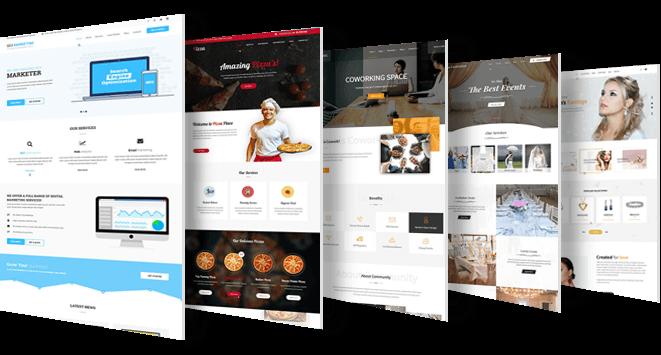 قابلیت طراحی انواع وب سایت ها با وردپرس