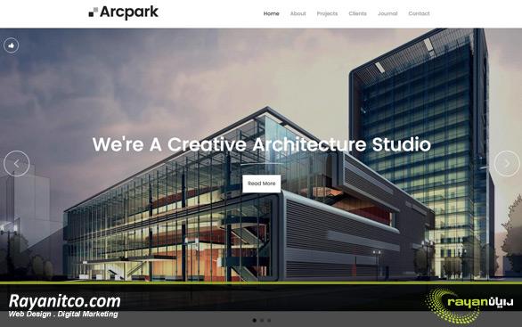 طراحی سایت معماری - طراحی سایت شرکت معماری