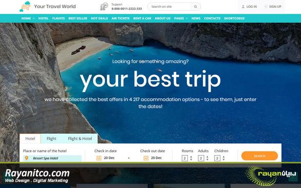 طراحی سایت گردشگری – طراحی سایت آژانس مسافرتی