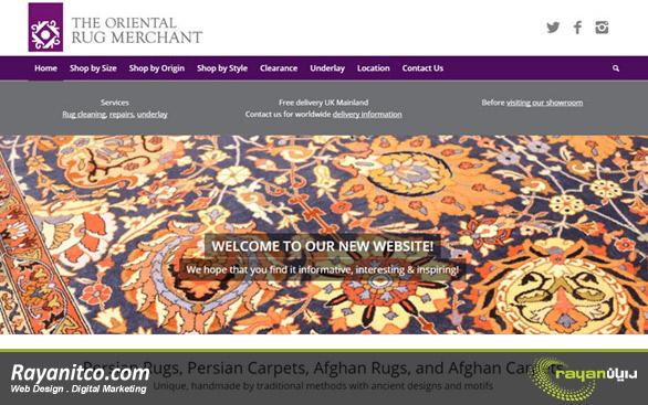 طراحی سایت فرش – طراحی وب سایت فرش