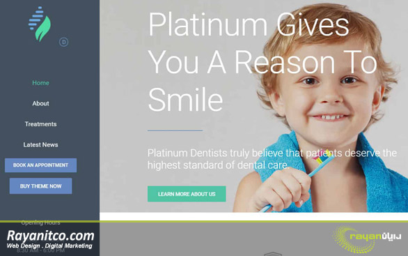 ویژگی های طراحی سایت دندانپزشکی