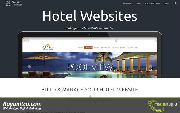 نکات طراحی سایت هتل