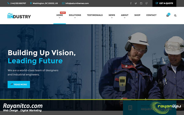 طراحی سایت کارخانجات – طراحی سایت کارخانه