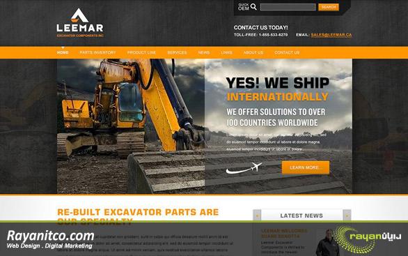 طراحی سایت صنعتی – طراحی وب سایت صنعتی