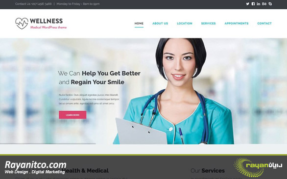 اهداف طراحی سایت پزشکی