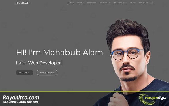 طراحی سایت شخصی - طراحی وب سایت شخصی