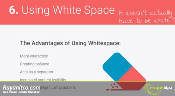 فضای سفید برای ارتباط بهتر کاربر در بهینه سازی سایت
