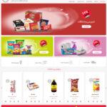 طراحی فروشگاه آنلاین هایپر مارکت میلو