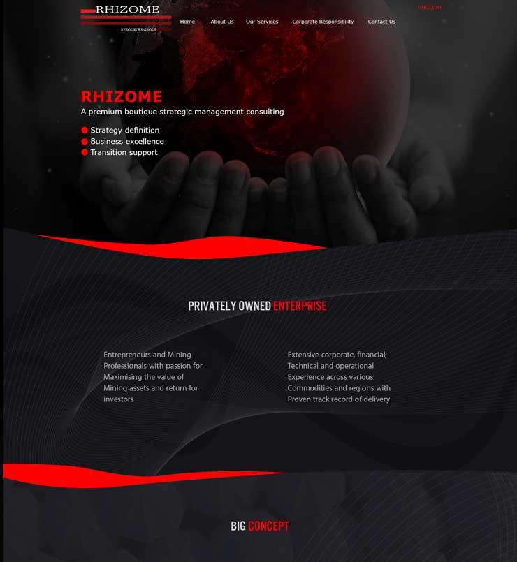 طراحس سایت شرکت Rhizomere استرالیا