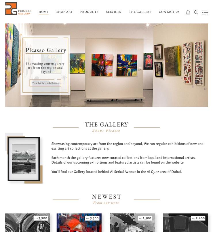 طراحی سایت گالری پیکاسو دبی