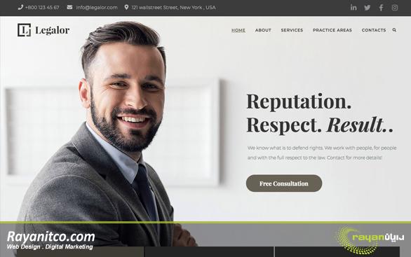 در طراحی سایت حقوقی و وکالت چه نکاتی باید در نظر گرفته شود؟