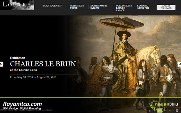 امکانات طراحی سایت موزه