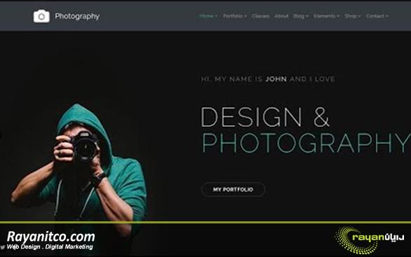 طراحی سایت عکاسی چیست؟