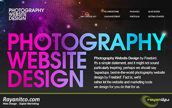 امکانات طراحی سایت عکاسی