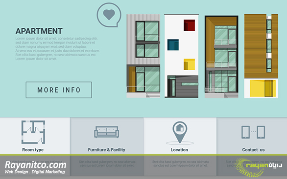 امکانات طراحی سایت مجتمع مسکونی