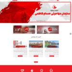 طراحی سایت سازمان مهاجرتی حسام کاظمی