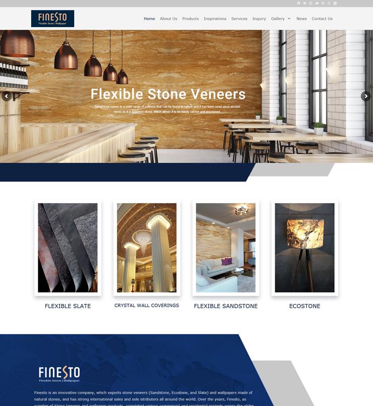 طراحی سایت شرکت Finesto دبی