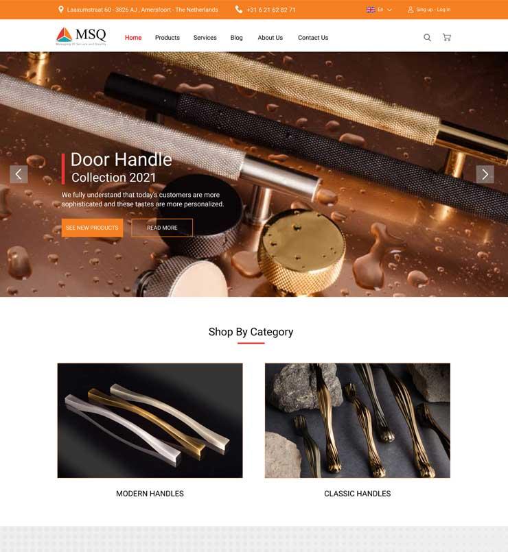 طراحی سایت شرکت MSQ هلند