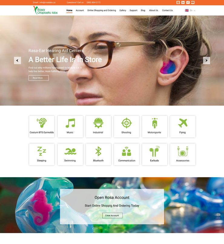 طراحی سایت شرکت Rosalabsinc کانادا